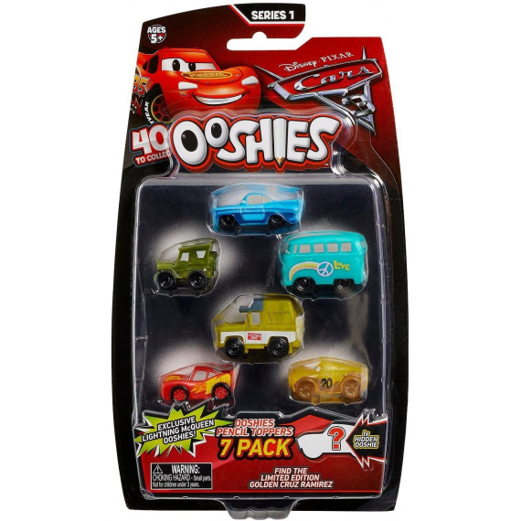 BIZAK OOSHIES CARS PACK 7 PERSONAJES