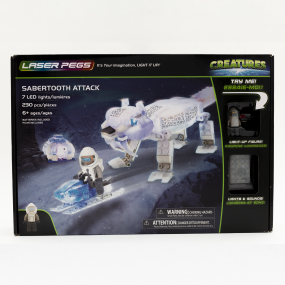LASER PEGS 18404 CRIATURAS SABERTOOTH